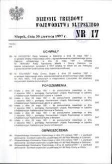 Dziennik Urzędowy Województwa Słupskiego. Nr 17/1997