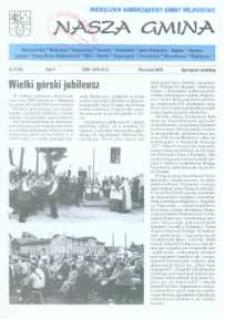 Nasza Gmina. Miesięcznik Samorządowy Gminy Wejherowo, 2000, wrzesień, Nr 9 (55)