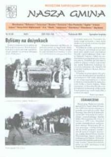 Nasza Gmina. Miesięcznik Samorządowy Gminy Wejherowo, 2000, październik, Nr 10 (56)