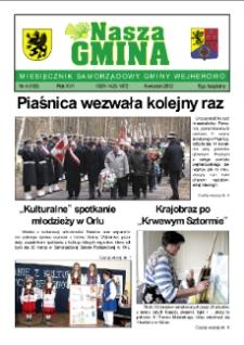 Nasza Gmina. Miesięcznik Samorządowy Gminy Wejherowo, 2012, kwiecień, Nr 4 (189)