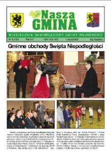 Nasza Gmina. Miesięcznik Samorządowy Gminy Wejherowo, 2012, listopad, Nr 10 (195)