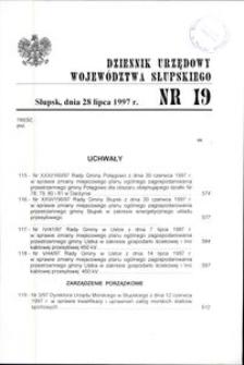 Dziennik Urzędowy Województwa Słupskiego. Nr 19/1997