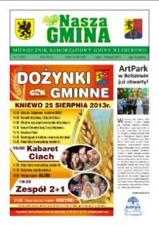 Nasza Gmina. Miesięcznik Samorządowy Gminy Wejherowo, 2013, lipiec/sierpień, Nr 7 (203)