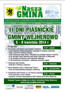 Nasza Gmina. Miesięcznik Samorządowy Gminy Wejherowo, 2014, marzec, Nr 3 (210)
