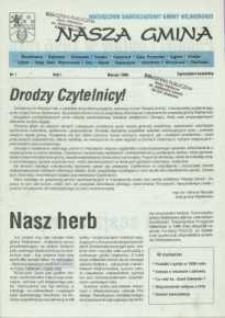 Nasza Gmina. Miesięcznik Samorządowy Gminy Wejherowo, 1996, marzec, Nr 1