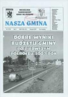 Nasza Gmina. Miesięcznik Samorządowy Gminy Wejherowo, 2007, wrzesień, Nr 9 (135)