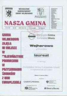 Nasza Gmina. Miesięcznik Samorządowy Gminy Wejherowo, 2008, czerwiec, Nr 6 (144)