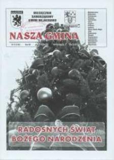 Nasza Gmina. Miesięcznik Samorządowy Gminy Wejherowo, 2008, grudzień, Nr 12 (150)