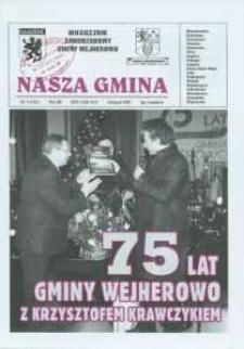 Nasza Gmina. Miesięcznik Samorządowy Gminy Wejherowo, 2009, listopad, Nr 11 (161)
