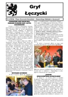 Gryf Łęczycki. Pismo Zrzeszenia Kaszubsko-Pomorskiego Oddziału w Łęczycach, 2010, październik, Nr 6