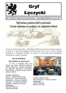 Gryf Łęczycki. Pismo Zrzeszenia Kaszubsko-Pomorskiego Oddziału w Łęczycach, 2011, styczeń, Nr 1 (7)