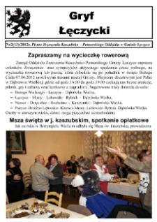 Gryf Łęczycki. Pismo Zrzeszenia Kaszubsko-Pomorskiego Oddziału w Gminie Łęczyce, 2012, czerwiec, Nr 2 (13)