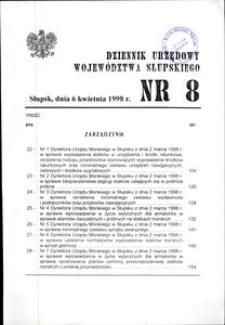 Dziennik Urzędowy Województwa Słupskiego. Nr 8/1998