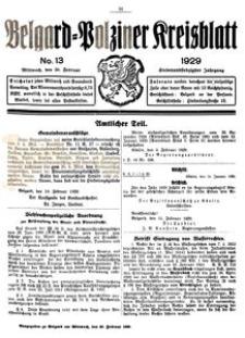 Belgard-Polziner Kreisblatt, 1929, Nr 13