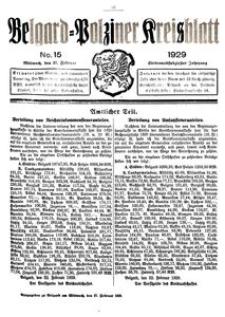 Belgard-Polziner Kreisblatt, 1929, Nr 15