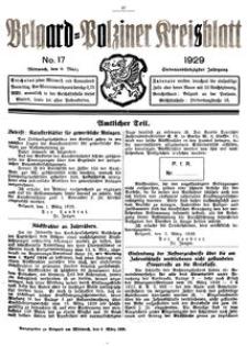 Belgard-Polziner Kreisblatt, 1929, Nr 17