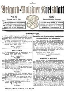 Belgard-Polziner Kreisblatt, 1929, Nr 19
