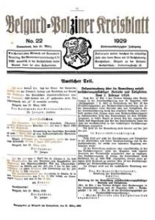 Belgard-Polziner Kreisblatt, 1929, Nr 22