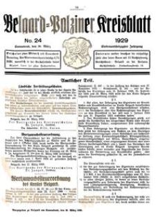 Belgard-Polziner Kreisblatt, 1929, Nr 24