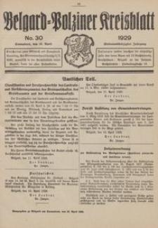 Belgard-Polziner Kreisblatt, 1929, Nr 30
