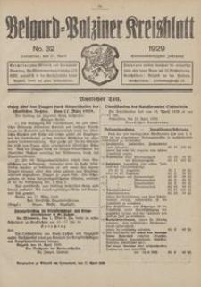 Belgard-Polziner Kreisblatt, 1929, Nr 32