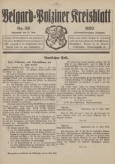 Belgard-Polziner Kreisblatt, 1929, Nr 39