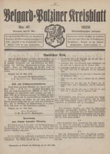 Belgard-Polziner Kreisblatt, 1929, Nr 41