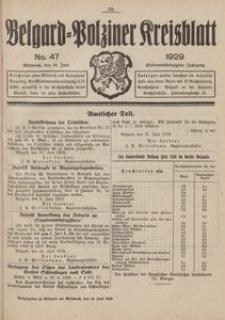 Belgard-Polziner Kreisblatt, 1929, Nr 47