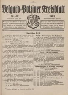 Belgard-Polziner Kreisblatt, 1929, Nr 52