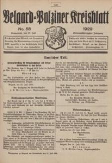 Belgard-Polziner Kreisblatt, 1929, Nr 58