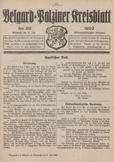Belgard-Polziner Kreisblatt, 1929, Nr 59