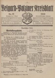 Belgard-Polziner Kreisblatt, 1929, Nr 61