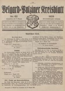 Belgard-Polziner Kreisblatt, 1929, Nr 62