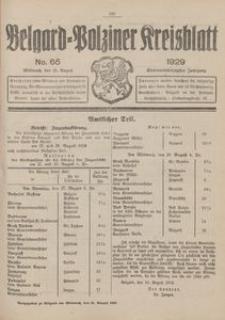 Belgard-Polziner Kreisblatt, 1929, Nr 65
