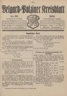 Belgard-Polziner Kreisblatt, 1929, Nr 68