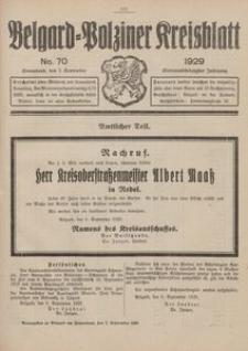 Belgard-Polziner Kreisblatt, 1929, Nr 70