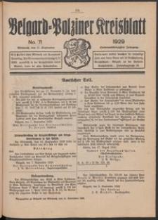 Belgard-Polziner Kreisblatt, 1929, Nr 71