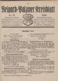 Belgard-Polziner Kreisblatt, 1929, Nr 73