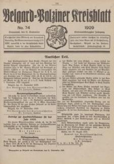 Belgard-Polziner Kreisblatt, 1929, Nr 74