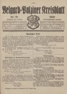 Belgard-Polziner Kreisblatt, 1929, Nr 78