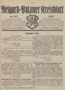 Belgard-Polziner Kreisblatt, 1929, Nr 80