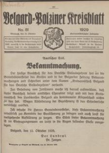 Belgard-Polziner Kreisblatt, 1929, Nr 81