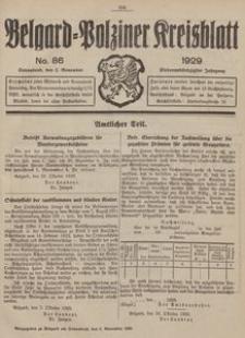Belgard-Polziner Kreisblatt, 1929, Nr 86