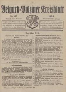 Belgard-Polziner Kreisblatt, 1929, Nr 87