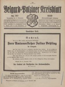 Belgard-Polziner Kreisblatt, 1929, Nr 90