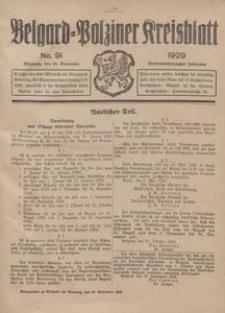 Belgard-Polziner Kreisblatt, 1929, Nr 91