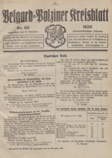 Belgard-Polziner Kreisblatt, 1929, Nr 92