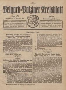 Belgard-Polziner Kreisblatt, 1929, Nr 101