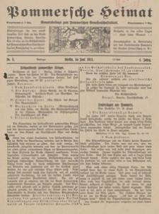 Pommersche Heimat. Monatsbeilage zum Pommerschen Genossenschaftsblatt Nr. 5/1915