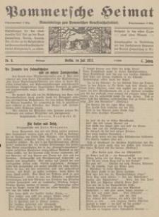 Pommersche Heimat. Monatsbeilage zum Pommerschen Genossenschaftsblatt Nr. 6/1915